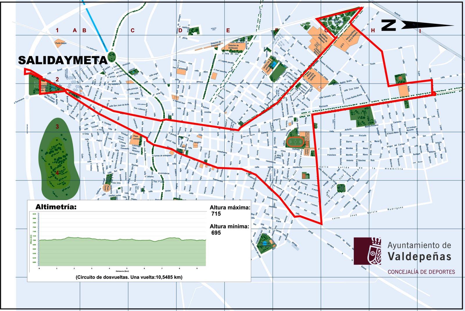 Ngelo 21 xvi muy heroica media maraton ciudad de valdepe as - Plano de valdepenas ...