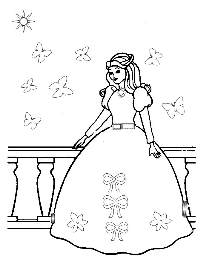 Free Color Sheets With Butterflies And Princesses