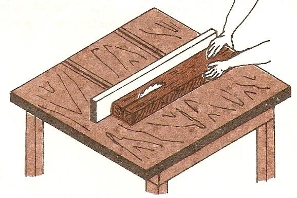 Muebles domoticos corte longitudinal de madera cortar a - Sierra de mano para madera ...