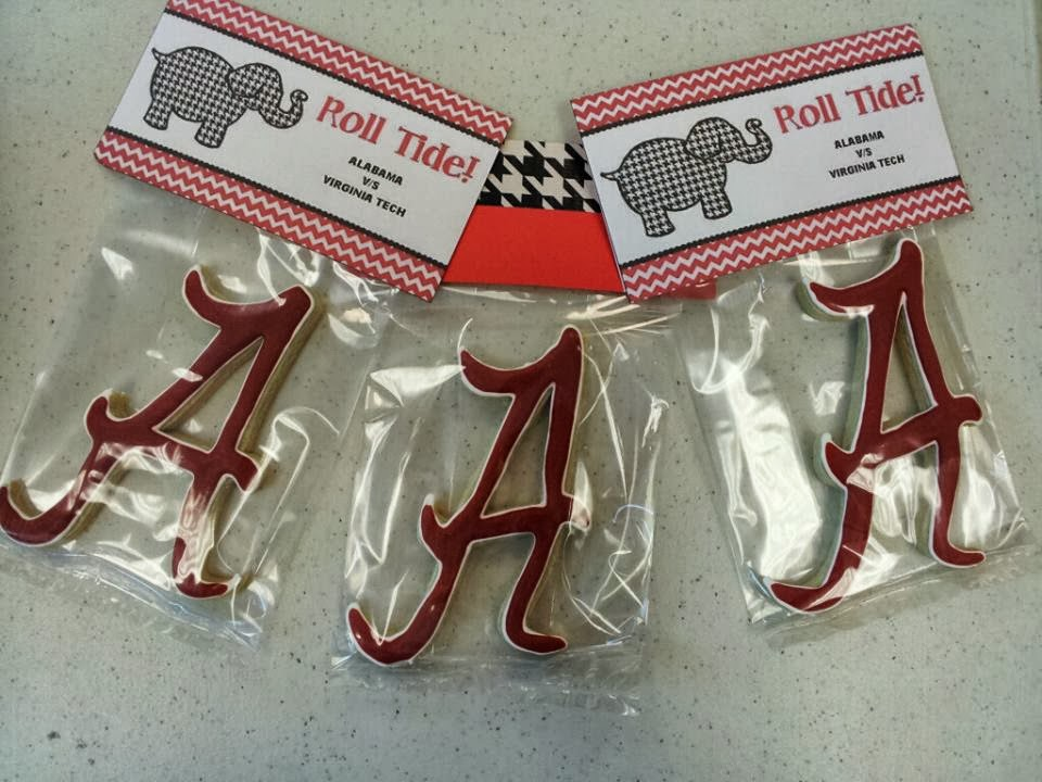 Alabama Cookies, Crimson Tide Cookies