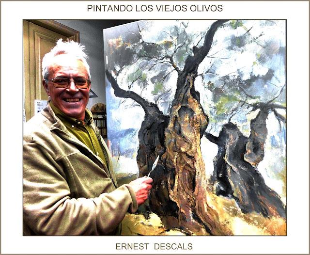 OLIVOS-PINTURAS-CAMPO-PINTANDO-ARBOLES-PAISAJES-NATURALEZA-FOTOS-ARTISTA-PINTOR-ERNEST DESCALS--
