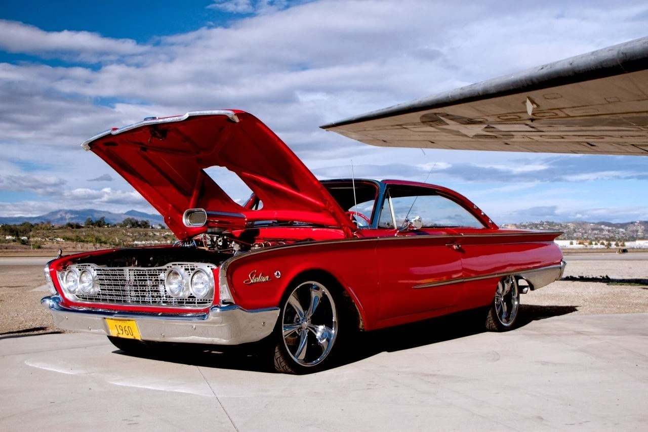 1960 ford starliner custom red auto restorationice