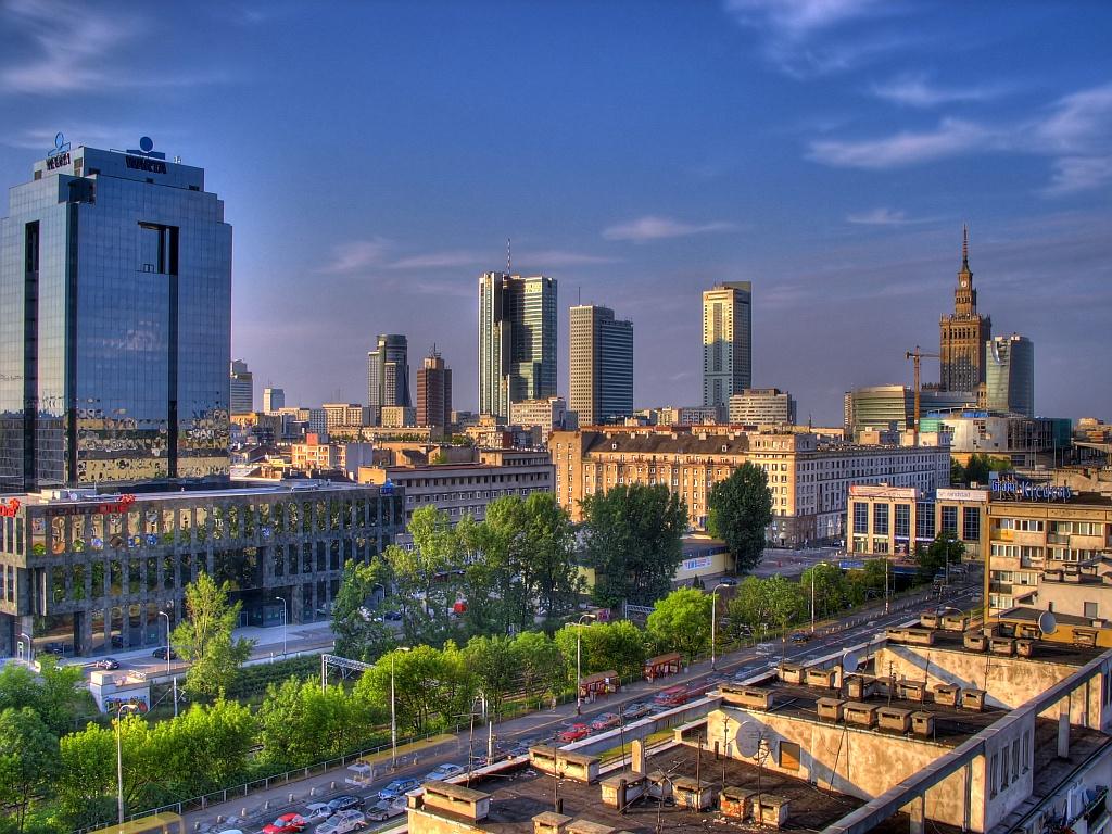مدينة وارسو في بولندا