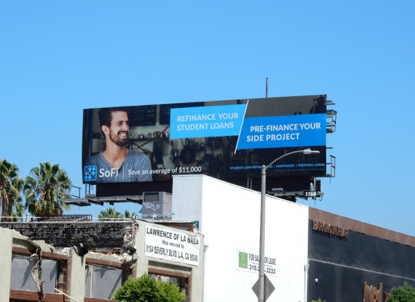 SoFi Pre finance your side project billboard