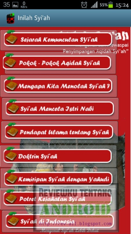 Sub bab INILAH SYIAH aplikasi Inilah syiah versi 1.0 - aplikasi android untuk mengenal hakikat syiah dan mengetahui keadaannya di indonesia (ulasan oleh rev-all.blogspot.com)