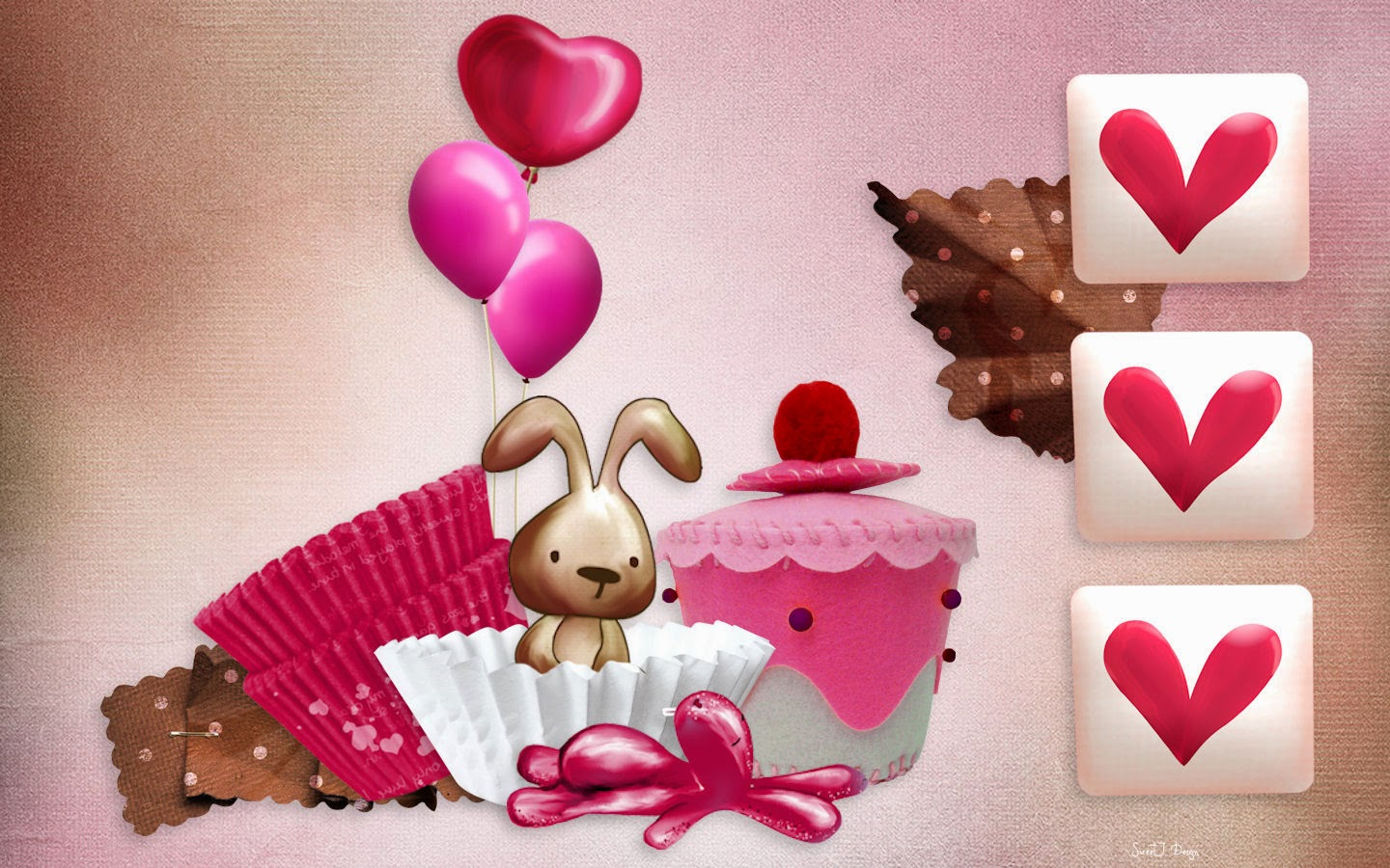 Pink-background-Birthday-Bunny-Cupcake-card-for-girls-1440x900-