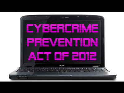"the cybercrime prevention act of 2012 (new york) – a new philippine ""cybercrime"" law drastically  iii signed the  cybercrime prevention act of 2012 into law on september 12, 2012."