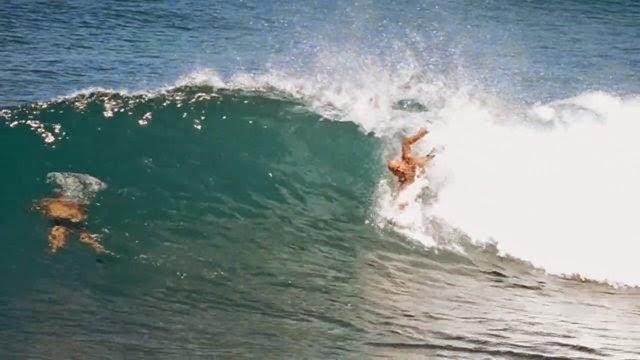 Bodysurfing Panics Keahi Parker and Mike Stewart