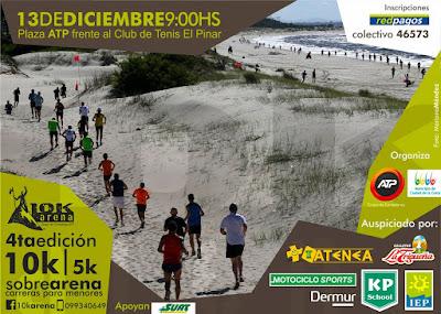 10k por la arena de ATP en El Pinar (Canelones, 13/dic/2015)