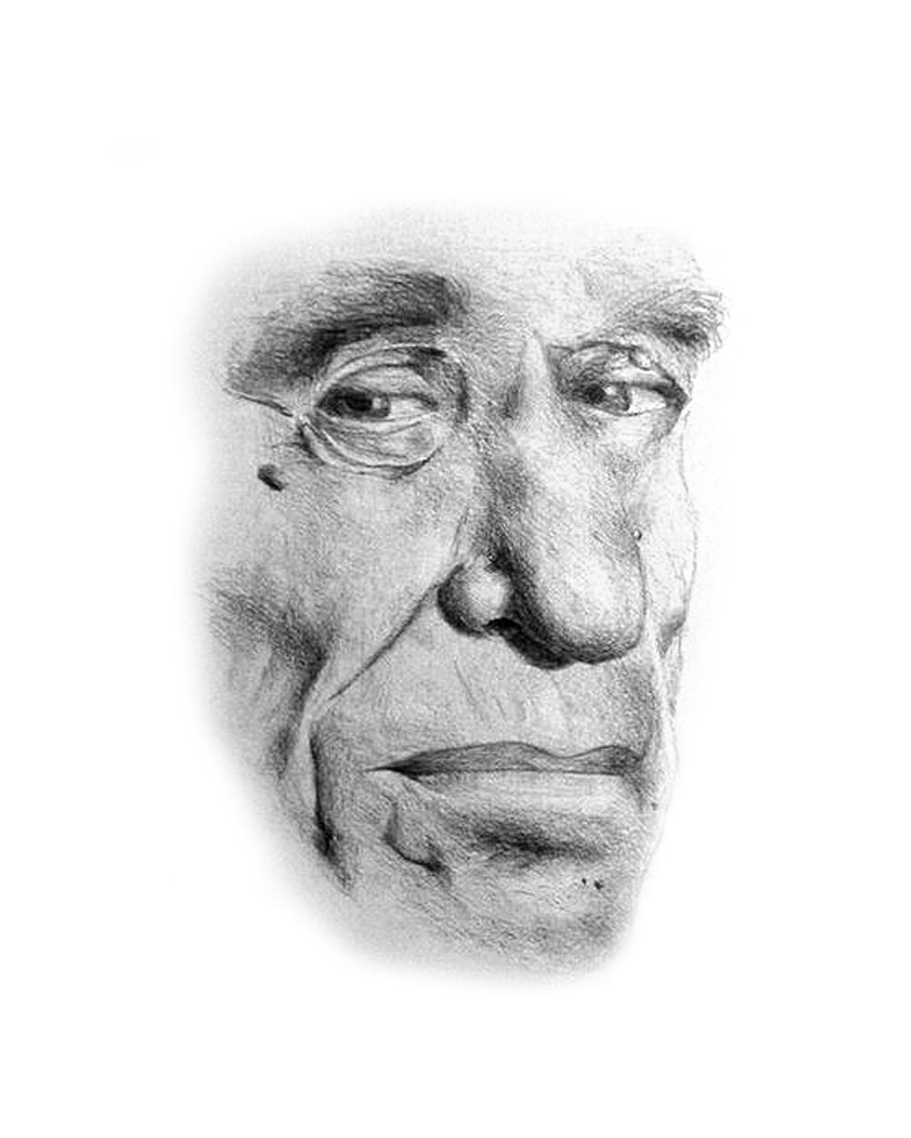 Dibujo de Bukowski