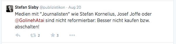 Stefan Slaby Tweet