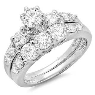 3 Stone Bridal Engagement Ring
