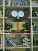 Esta es la mascota de nuestra biblioteca: