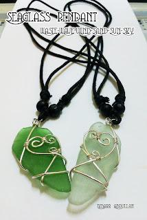 seaglass, couple pendant, malaysia