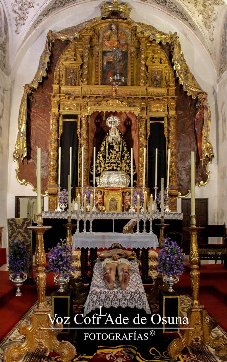 EN IMÁGENES: Altar de Cultos, Hermandad del Santo Entierro 2017
