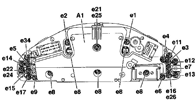 обозначения лампочек на панель в мерседесе w202