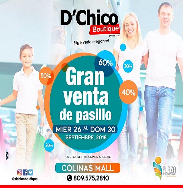 VENTAS DE PASILLOS, CHICOS BOUTIQUE