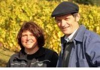 Helga und Peter J. König  im Gespräch mit Martina und Peter Linxweiler/ Weingut Hahnmühle