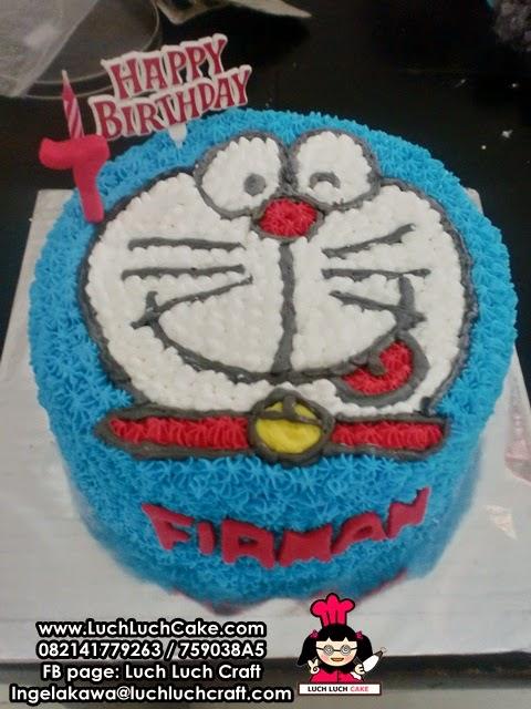 Kue Tart Doraemon Kepala 3D