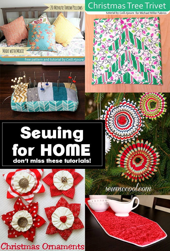 Check out these six sewing tutorials to get your home ready for the holidays!