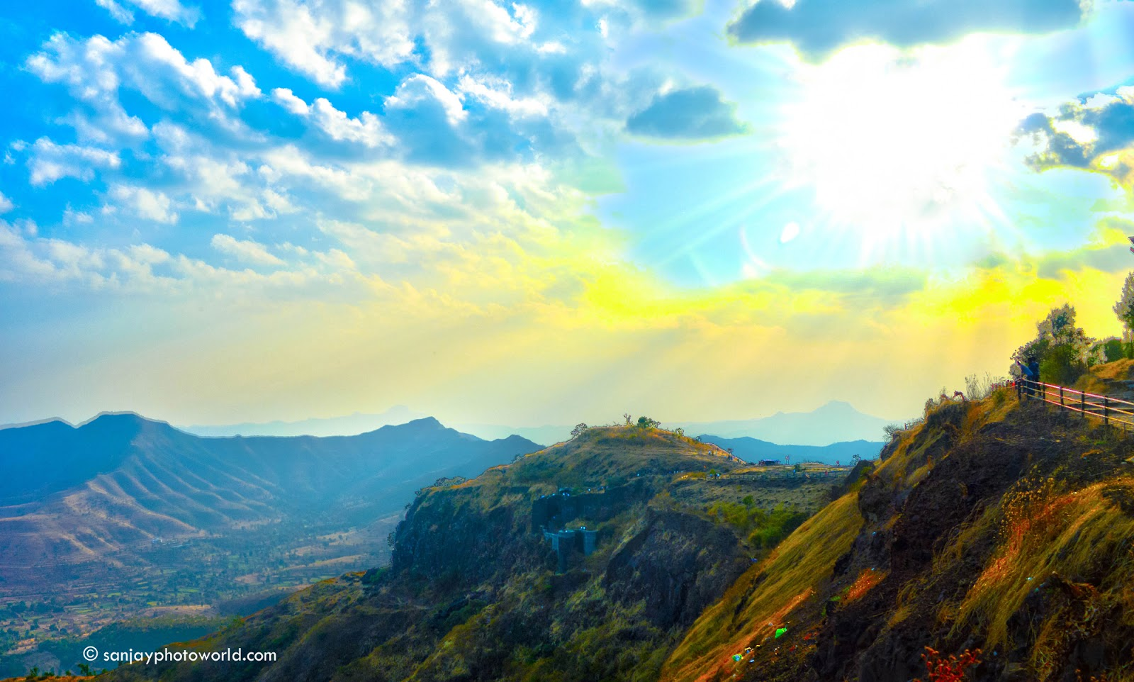Sinhgad Fort HDR Photography On Hill Of