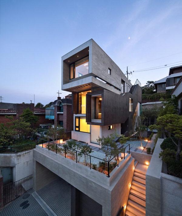 H House Rumah Modern Korea