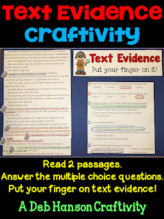 Teaching students to find text evidence to support their answers is an important reading strategy and test taking strategy. This post contains a FREE text evidence lesson!  It includes text evidence sentence starters, a free reading passage, and other text evidence activities.