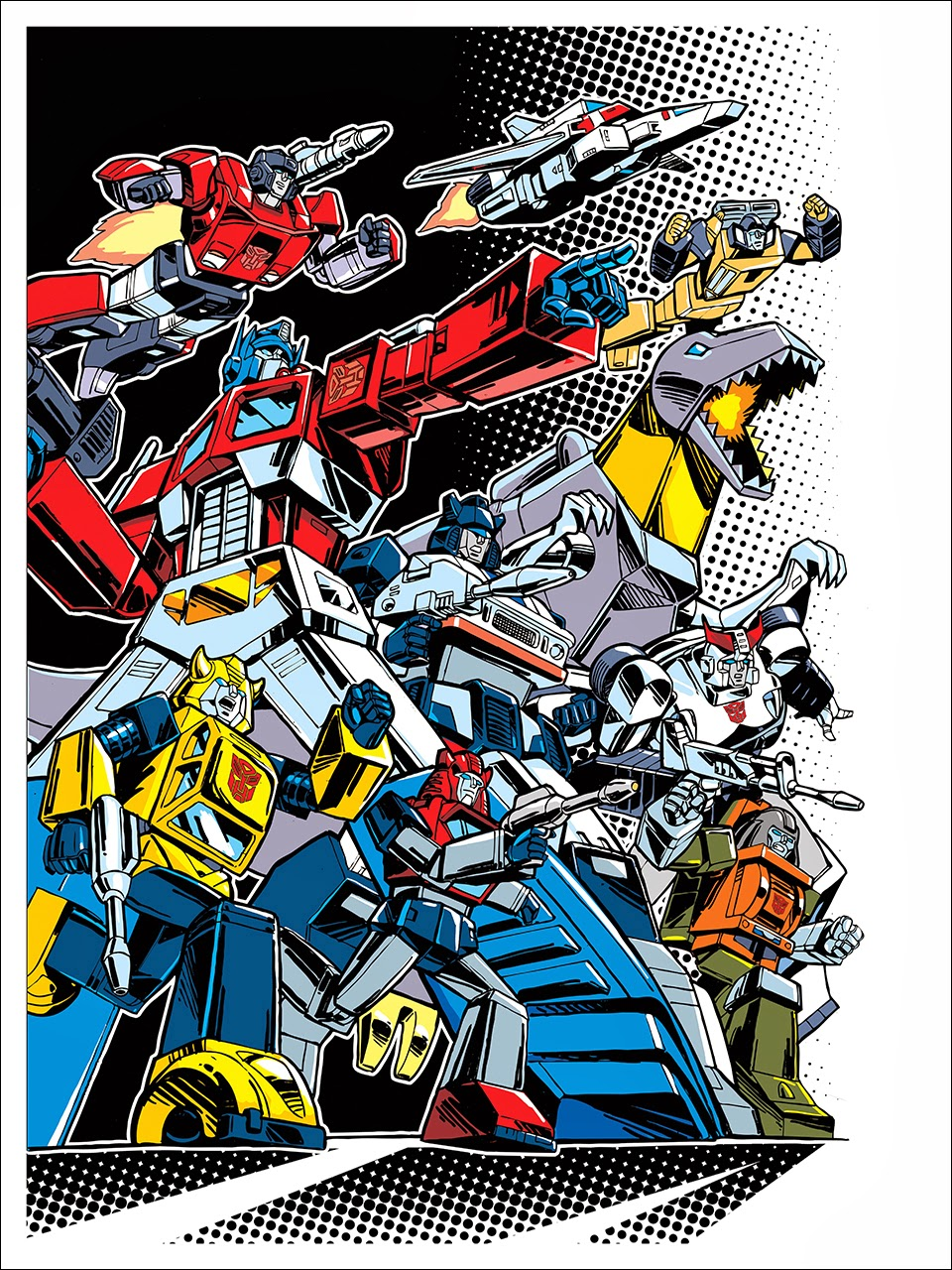 """Autobots"" Transformers 30th Anniversary Giclee Print by Guido Guidi"