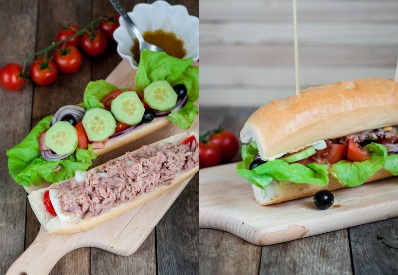 Przepis na sandwich z sałatką nicejską
