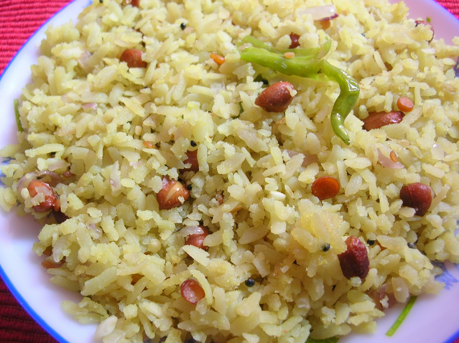 how to make flattened rice poha