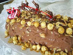 'Yule log' cake {Bûche de Noël}