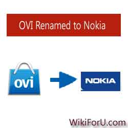 OVI Changed to Nokia