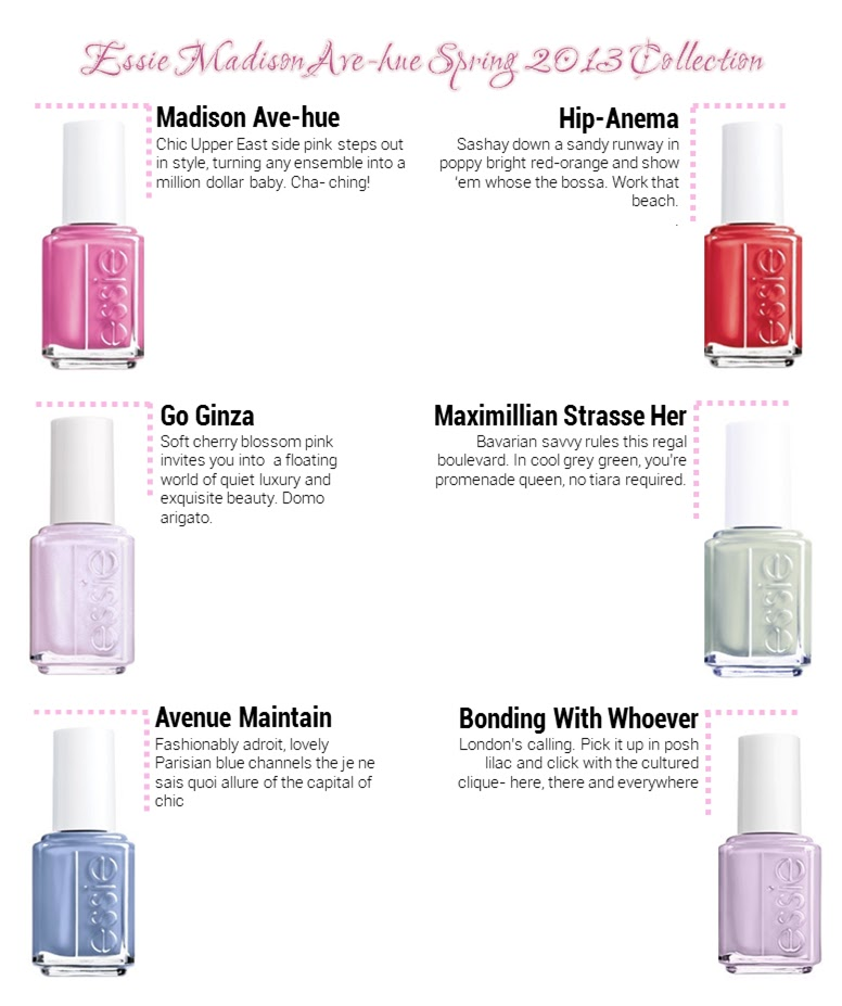 The Pink Studio Nails That Rock Essie S 2013 Spring Nail Polish