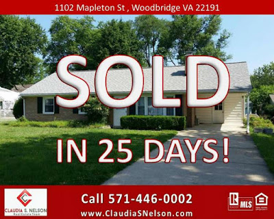Sell Your Home Fast Woodbridge VA, Sold in 25 Days! 1102 Mapleton St Woodrbidge by Claudia S Nelson