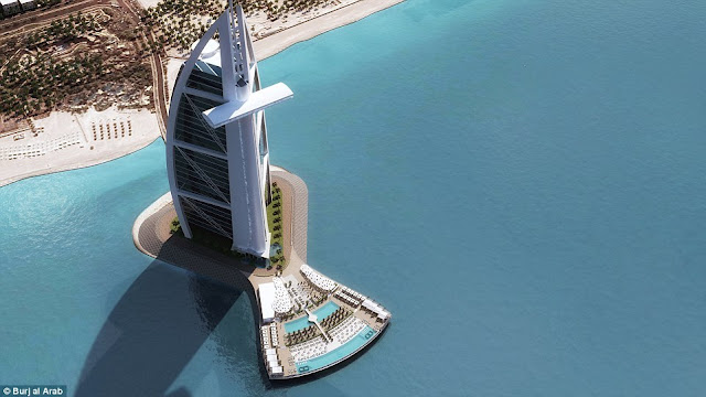 The Burj AL Arab is all set to expand with two swimming pools