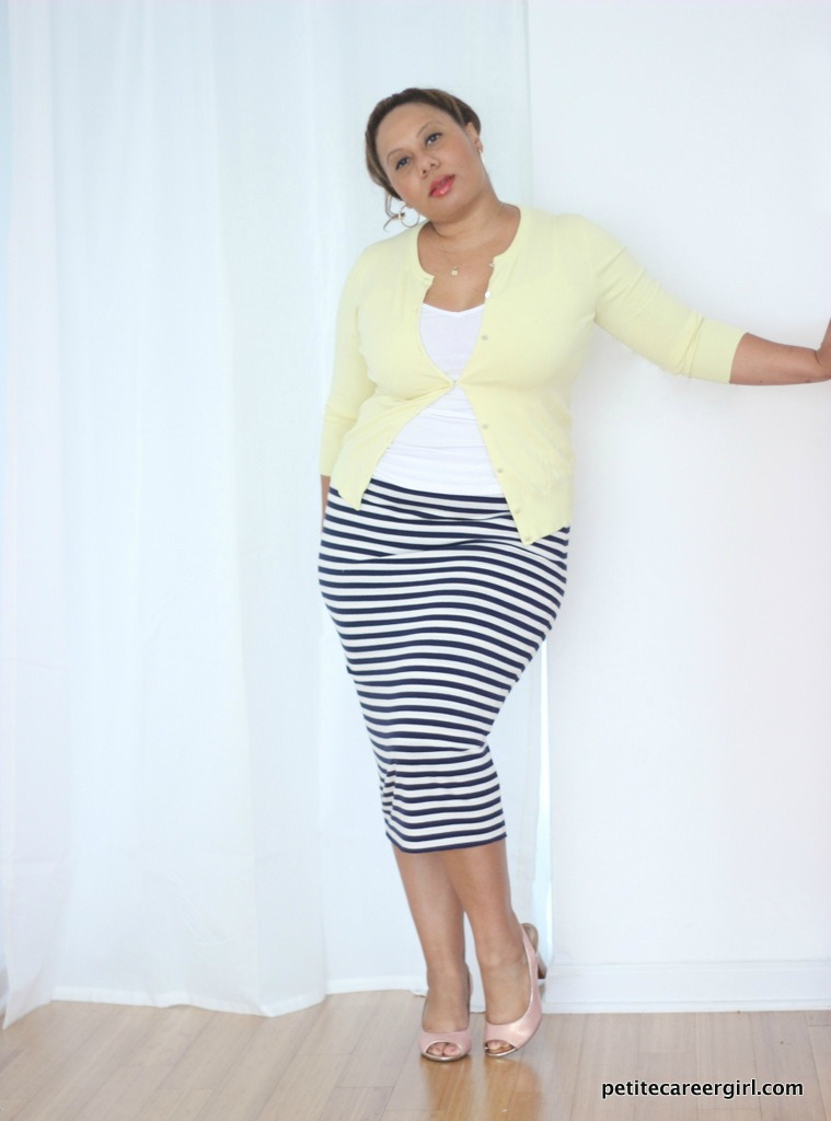 How to wear a midi skirt | Casual business attire | Curvy Fashion | Plus Size Fashion Blog