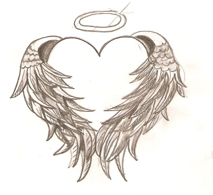 free angel wings coloring pages - photo#13
