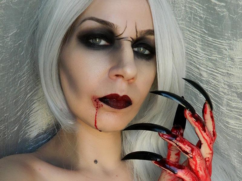 Maquillage halloween sang qui coule - Maquillage vampire halloween ...