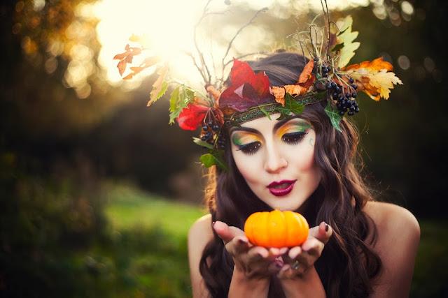 amazing makeup, autumn colours, model birmingham