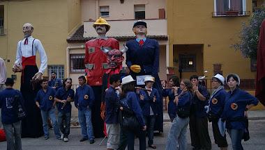 18 DE SETEMBRE DE 2010 - ELS GEGANTS DE LA LLACUNA AL 25 ANIVERSARI DELS GEGANTS DE COLLBATÓ