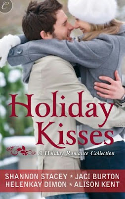 Book cover of Holiday Kisses by Shannon Stacey Jaci Burton HelenKay Dimon Alison Kent (contemporary Christmas romance book)
