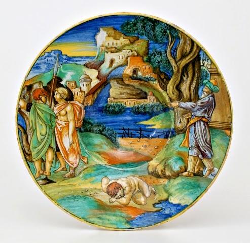 Le Muse : MAIOLICHE Antiche - FRANCESCO XANTO AVELLI: Piatto istoriato, 1531 - 1532 - Museo ...