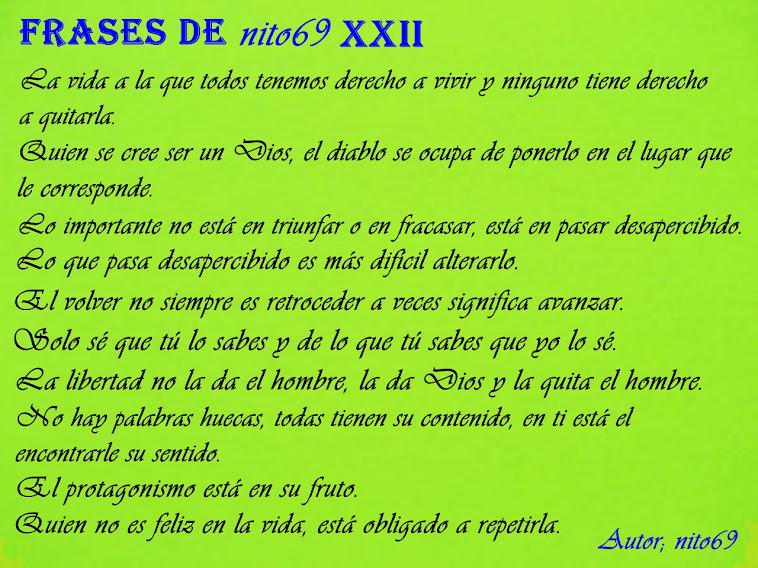 FRASES DE nito69 XXII