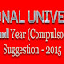 NU Hons. 2nd Year (Compulsory) English Suggestion - 2015   Part - 02