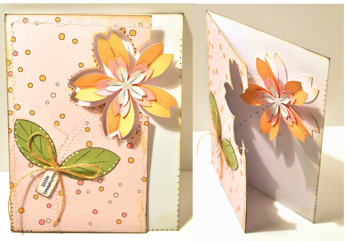 Открытки с объемными цветами своими 157