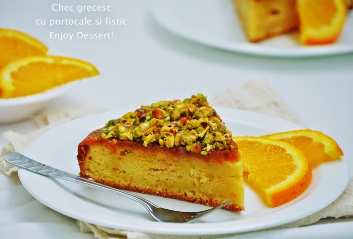 Chec grecesc cu portocale, miere si fistic