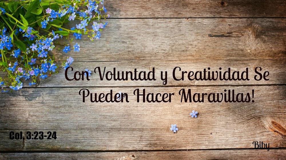 CON VOLUNTAD Y CREATIVIDAD SE PUEDEN HACER MARAVILLAS!