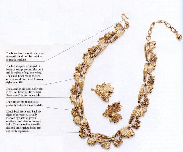 Trifari Gold Necklace & Earrings