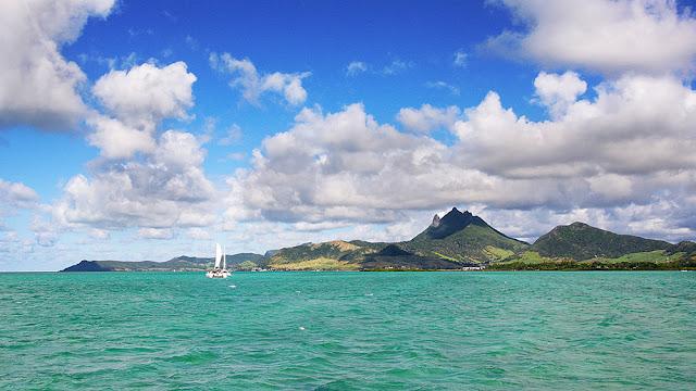 panorama isola maurizius, isola cervi, mauritius