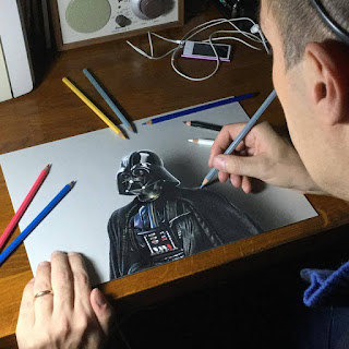 Darth Vader drawing by Marcello Barenghi